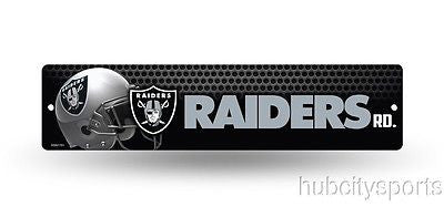 "Oakland Raiders Street Sign NEW! 4""X16"" ""Raiders Rd."" Man Cave NFL"