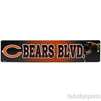 "Chicago Bears Street Sign NEW! 4""X16"" ""Bears Blvd."" Man Cave NFL NEW!"