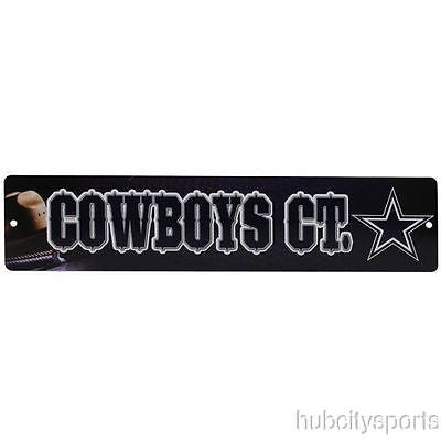"Dallas Cowboys Street Sign NEW! 4""X16"" ""Cowboys Ct."" Man Cave NFL"