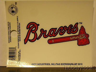 Atlanta Braves Window Cling Decal