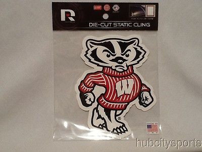 Wisconsin Badgers Die Cut Static Cling Decal Sticker 5 X 4 NEW!! Car Window