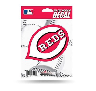 "Cincinnati Reds 4"" x 6"" Die-Cut Decal NEW! MLB Car or Laptop"