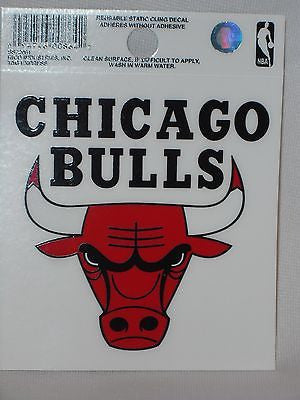 Chicago Bulls Static Cling Decal Car or Truck Reusable