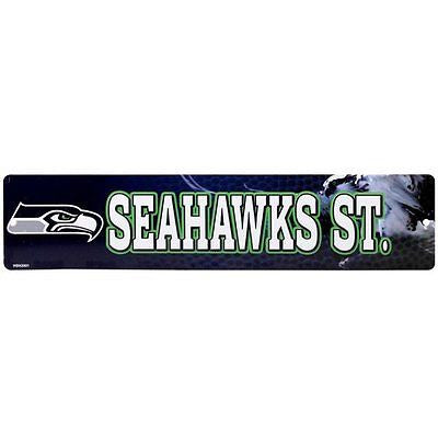 "Seattle Seahawks Street Sign NEW!!! 4""X16"" ""Seahawks St."" Man Cave NFL"