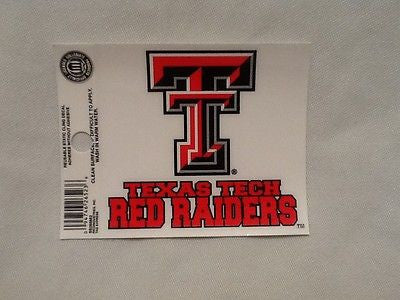 Texas Tech Red Raiders Static Cling Sticker NEW!! Window or Car! NCAA