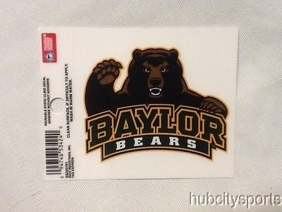 Baylor Bears Static Cling Sticker NEW!! Window or Car! NCAA