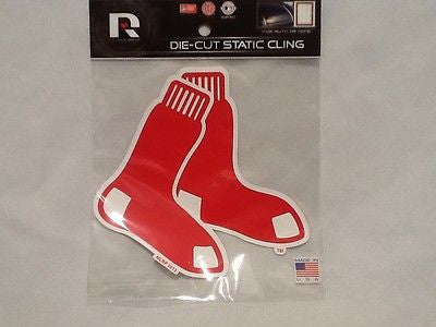 Boston Red Sox Die Cut Static Cling Decal Sticker 5 X 5 NEW! Car Window