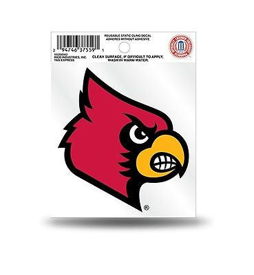 Louisville Cardinals Logo Static Cling Sticker NEW!! Window or Car! NCAA