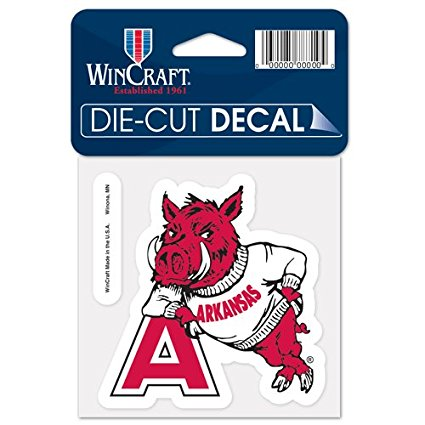 Arkansas Razorbacks Retro Logo Die Cut Decal Stickers Perfect Cut 3x3 inches
