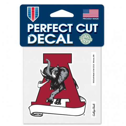 Alabama Crimson Tide Retro Logo Die Cut Decal Stickers Perfect Cut 3x3 inches