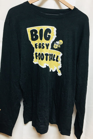 New Orleans Saints Long Sleeve Black Shirt Big Easy Football '47 Sizes S-XXL