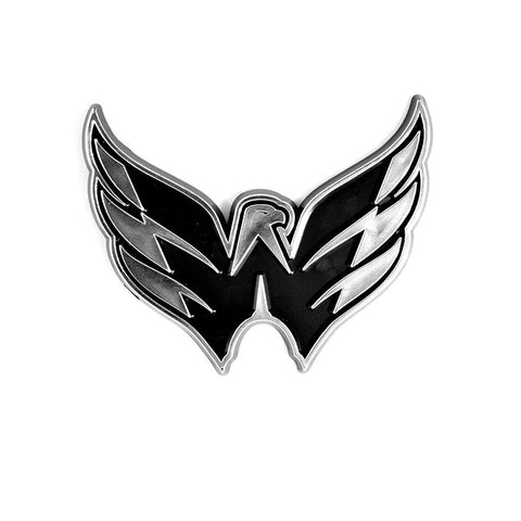 Washington Capitals Logo 3D Chrome Auto Decal Sticker NEW! Truck or Car