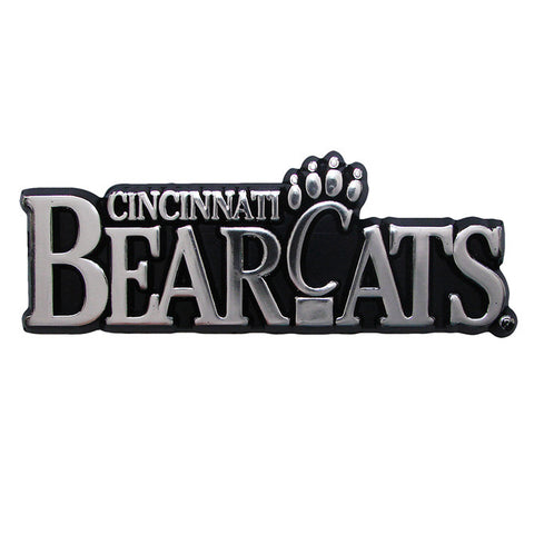 Cincinnati Bearcats Logo 3D Chrome Auto Decal Sticker NEW! Truck or Car
