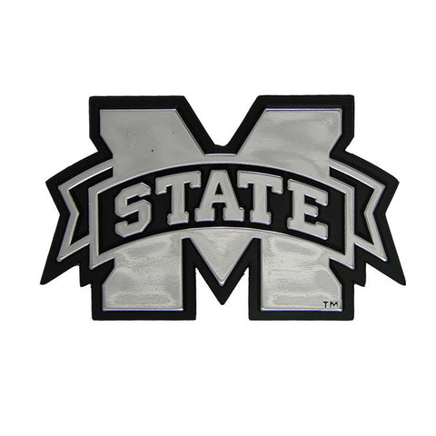 Mississippi State Bulldogs Logo 3D Chrome Auto Decal Sticker NEW! Truck or Car