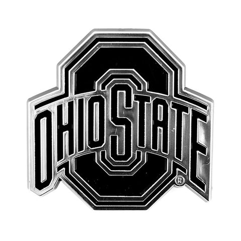 Ohio State Buckeyes Logo 3D Chrome Auto Decal Sticker NEW! Truck or Car Meyer
