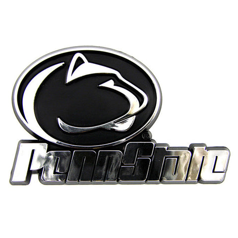 Penn State Nittany Lions Logo 3D Chrome Auto Decal Sticker NEW! Truck or Car