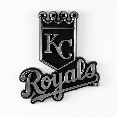 Kansas City Royals Logo 3D Chrome Auto Decal Sticker NEW! Truck or Car