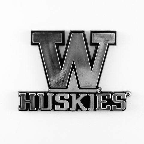 Washington Huskies Logo 3D Chrome Auto Decal Sticker NEW! Truck or Car