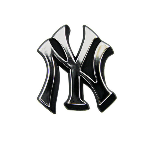 New York Yankees Logo 3D Chrome Auto Decal Sticker NEW!! Truck or Car!! Jeter