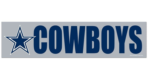 Dallas Cowboys Bumper Sticker NEW!! 3 x 11 Inches Free Shipping! Wincraft
