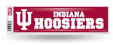 Indiana Hoosiers Bumper Sticker NEW!! 3 x 11 Inches Free Shipping!