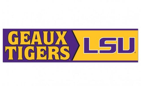 LSU Tigers Bumper Sticker NEW!! 3 x 11 Inches Free Shipping! Wincraft
