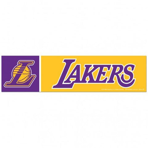 Los Angeles Lakers Bumper Sticker NEW!! 3 x 11 Inches Free Shipping! Wincraft