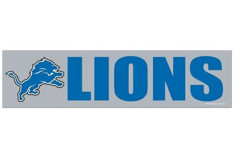 Detroit Lions Bumper Sticker NEW!! 3 x 11 Inches Free Shipping! Wincraft