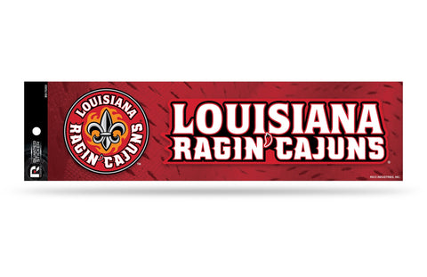 Louisiana Ragin Cajuns Bumper Sticker NEW!! 3 x 11 Inches Free Shipping! Rico