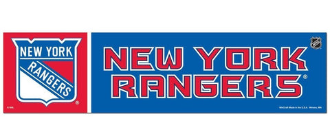 New York Rangers Bumper Sticker NEW!! 3 x 11 Inches Free Shipping! Wincraft