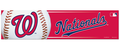 Washington Nationals Bumper Sticker NEW!! 3 x 11 Inches Free Shipping! Wincraft