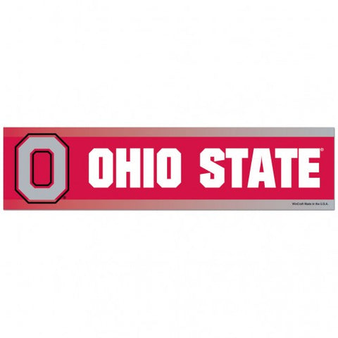 Ohio State Buckeyes Bumper Sticker NEW!! 3 x 11 Inches Free Shipping!