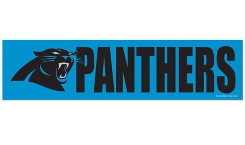 Carolina Panthers Bumper Sticker NEW!! 3 x 11 Inches Free Shipping!