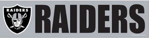 Oakland Raiders Bumper Sticker NEW!! 3 x 11 Inches Free Shipping! Wincraft
