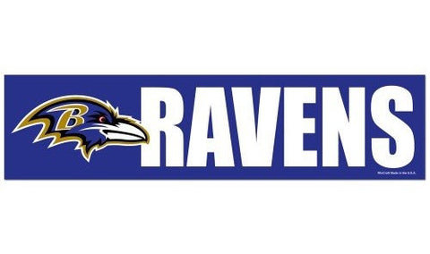Baltimore Ravens Bumper Sticker NEW!! 3 x 11 Inches Free Shipping! Wincraft