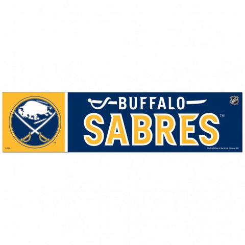 Buffalo Sabres Bumper Sticker NEW!! 3 x 11 Inches Free Shipping! Wincraft