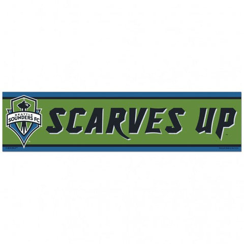 Seattle Sounders Bumper Sticker NEW!! 3 x 11 Inches Free Shipping! Scarves Up