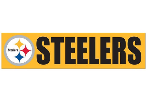 Pittsburgh Steelers Bumper Sticker NEW!! 3 x 11 Inches Free Shipping! Wincraft