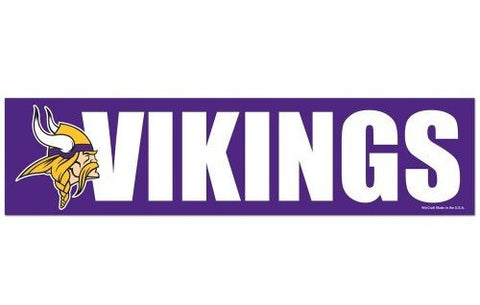 Minnesota Vikings Bumper Sticker NEW!! 3 x 11 Inches Free Shipping! Wincraft