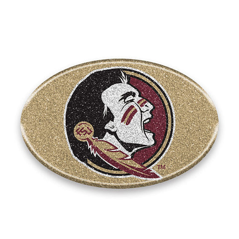 Florida State Seminoles *Bling* Color Logo Oval Auto Emblem Cell Phone Decal NEW