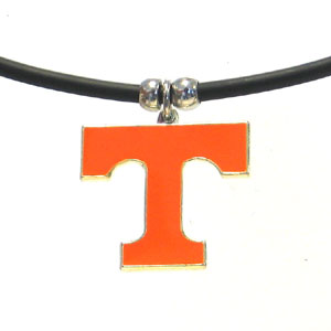 Tennessee Volunteers Logo Charm Necklace Rubber Cord Free Shipping!