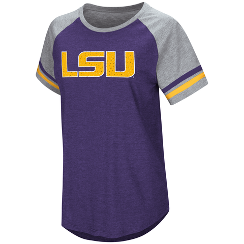 LSU Tigers Womens Shirt Purple Free Shipping! Bling Rhinestones