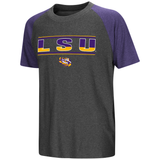 LSU Tigers Youth T-shirt Gray Free Shipping! Active Wear Raglan Scotty