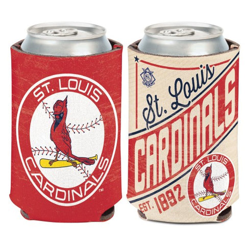 St. Louis Cardinals Retro Logo Can Koozie Holder Free Shipping! NEW! Collapsible