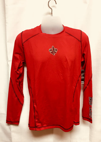 Louisiana Ragin Cajuns Red Long Sleeve Shirt Sizes S-2XL Free Shipping