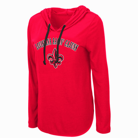 Louisiana Ragin Cajuns Womens Red Hoodie Shirt Sizes S-2XL My Lover