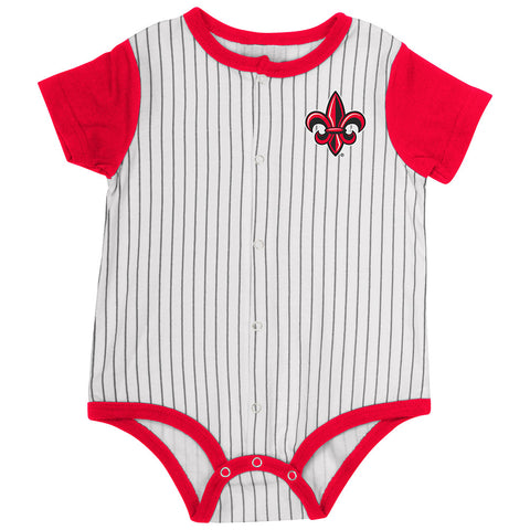 Louisiana Ragin Cajuns Infant Onesie Baseball Pinstripes