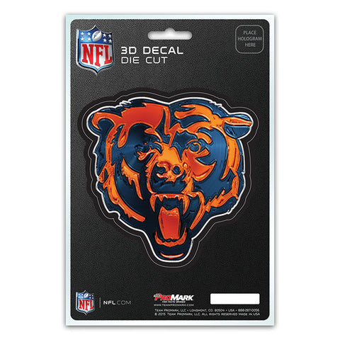 Chicago Bears 3D Die Cut Decal NEW!! 4 X 4 Window or Car! Flat Decal