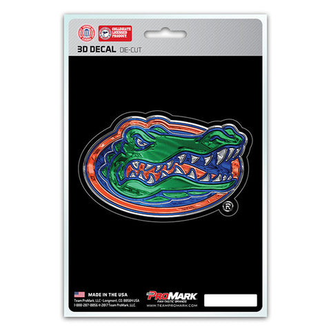 Florida Gators 3D Die Cut Decal NEW!! 4 X 3 Window or Car! Flat Decal