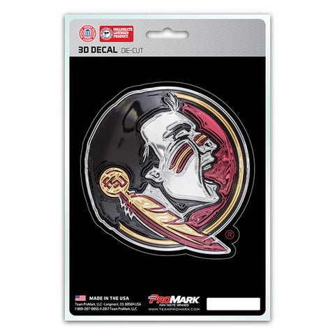 Florida State Seminoles 3D Die Cut Decal NEW!! 4 X 4 Window or Car! Flat Decal